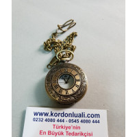 Köstekli Cep Saati Bronz