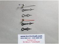 Metal Akrep 3,2 cm Yelkovan 3,9 cm Siyah Veya Gümüş