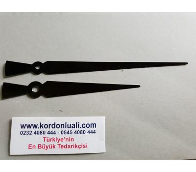 Akrep 13 cm Yelkovan 18 cm Metal Siyah 100 Adet