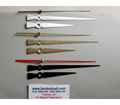 Akrep 10 cm Yelkovan 15 cm Metal Siyah Gümüş Veya Gold