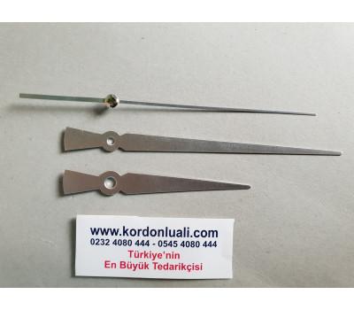 Akrep 10 cm Yelkovan 15 cm Metal Gümüş 100 Adet
