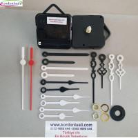 Saat Mekanizması Askılı Akar 18,5 mm Plastik Akrep Yelkovanlı 100 Ad