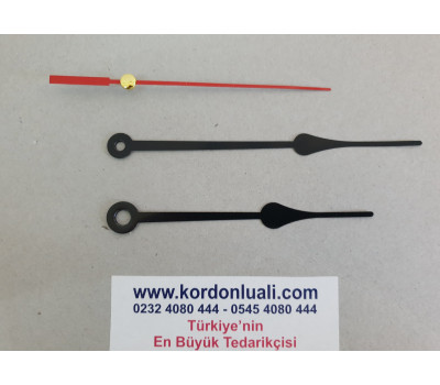 Akrep 9,8 cm Yelkovan 12 cm Metal Siyah