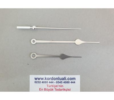 Akrep 8,4 cm Yelkovan 11,3 cm Metal Gümüş