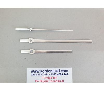 Akrep 9,4 cm Yelkovan 13,4 cm Metal Gümüş