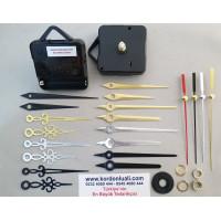 Saat Mekanizması Askılı Akar Şaft 16,5 mm Metal Akrep Yelkovan 100 Ad