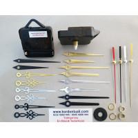 Saat Mekanizması Askılı Akar Şaft 14 mm Metal Akrep Yelkovanlı