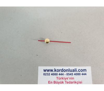 Saat Saniyesi 5.4 cm Metal Kırmızı