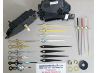 Sarkaçlı Saat Makinesi Şaft 18 mm Metal Akrep Yelkovanlı 100 Ad