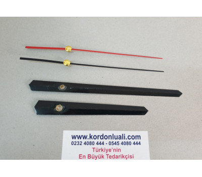 Akrep 11,5 cm Yelkovan 16,5 cm Metal Siyah 100 Adet
