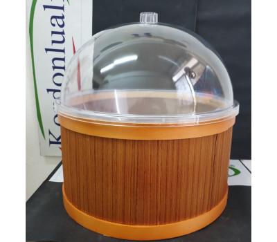 Salça Turşu Peynir Zeytin Teşhir Kabı Çapı 35 cm Kapaklı