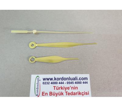 Akrep 6,75 cm Yelkovan 9,75 cm Metal Gold