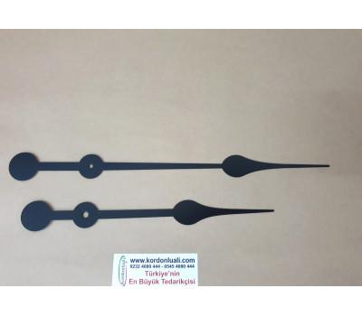 Akrep 23,5 cm Yelkovan 31 cm Metal Siyah 100 Adet