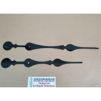 Akrep 23,5 cm Yelkovan 29 cm Metal Siyah 100 Adet