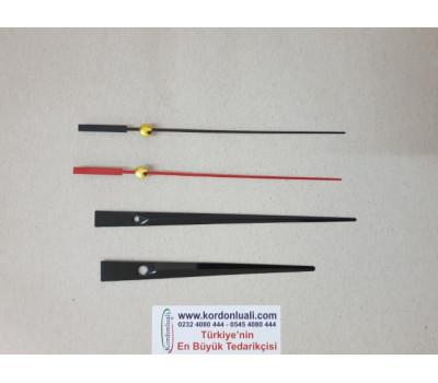 Akrep 12,5 cm Yelkovan 15,5 cm Metal Siyah 100 Adet