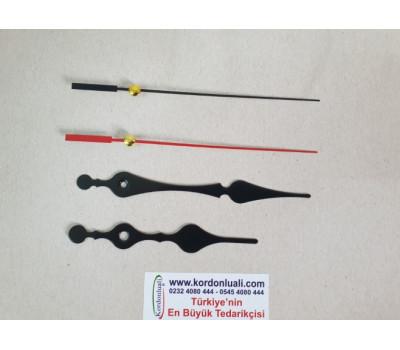 Akrep 11,5 cm Yelkovan 14,5 cm Metal Siyah 100 Adet