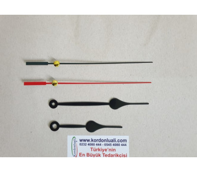 Akrep 9 cm Yelkovan 12 cm Metal Siyah 100 Adet