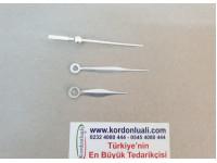 Akrep 4,5 cm Yelkovan 6,3 cm Metal Gümüş 100 Adet