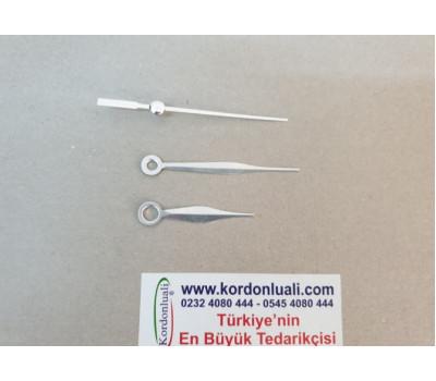 Metal Akrep 4,5 cm Yelkovan 6,3 cm Gümüş 100 Adet