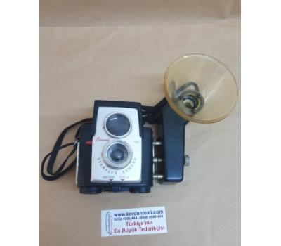 Antika Kodak Brownie Starflex 1957 Fotoğraf Makinesı