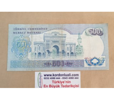 6. Emisyon 500 Lira C serisi Temiz