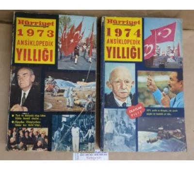 Hürriyet 1973 - 74 - 75 - 76 Ansiklopedik Yıllığı 4 Kitap