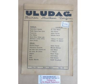 Bursa Halkevi Uludağ Dergisi 1948 Mayıs - Haziran Sayı 89