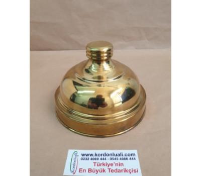 Cam Kavanoz Kapağı Ağız Çapı 13,5 cm Pirinç