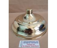 Cam Kavanoz Kapağı Ağız Çapı 19,5 cm Pirinç