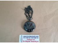 Köstekli Cep Saati Osmanlı Armalı Kapaklı Pilli Zincirli