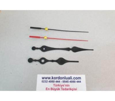 Akrep 9,3 cm Yelkovan 12 cm Metal Siyah 100 Adet