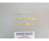 Akrep 9,3 cm Yelkovan 12 cm Metal Gold 100 Adet