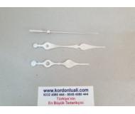 Akrep 9,3 cm Yelkovan 12 cm Metal Gümüş 100 Adet