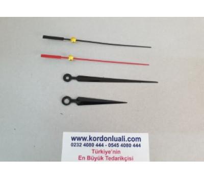 Akrep 6,5 cm Yelkovan 10 cm Metal Siyah 100 Adet