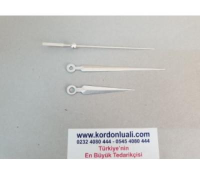 Akrep 6,5 cm Yelkovan 10 cm Metal Gümüş 100 Adet