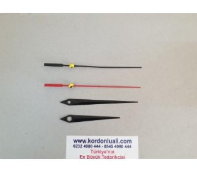 Akrep 7 cm Yelkovan 9,5 cm Metal Siyah 100 Adet