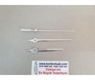 Akrep 7,9 cm Yelkovan 9,9 cm Metal Gümüş 100 Adet