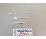 Akrep 7 cm Yelkovan 9,5 cm Metal Gümüş 100 Adet