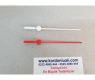 Plastik Saat Saniyesi 10 cm Kırmızı Veya Beyaz