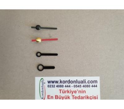 Metal Akrep 2 cm Yelkovan 2,5 cm Siyah