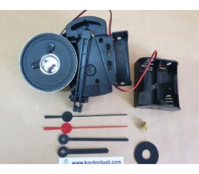 UTS Alman Sarkaçlı Saat Makinesi 16,2 mm Melodili Orta Ve Kalem Pil Yuvası Melodili
