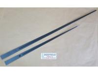 Akrep 40,5 cm Yelkovan 53 cm Metal Siyah Sadece UTS Alman Mekanizma Çalıştırır