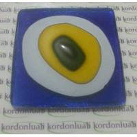 Nazar Boncuğu 8 cm Kare Cam