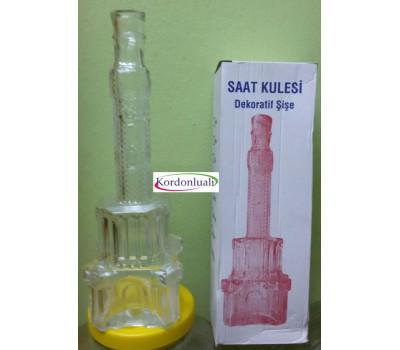İzmir Saat Kulesi 500 ml 29,5 cm Cam Şişe
