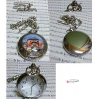 Köstekli Cep Saati Kapaklı Zincirli