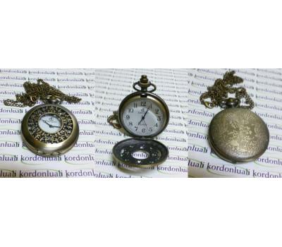 Cep Saati Köstekli Kapaklı Bronz