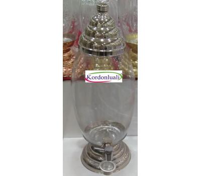 Cam 20 lt Bal Pekmez tahin Kavanozu Gümüş Görünümlü